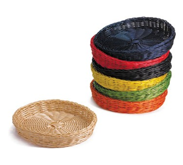 Ridal Collection Blue Hand-Woven Round Basket - 12