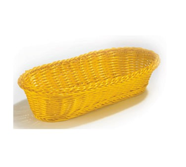 "TableCraft HM1118A Oblong Handwoven Basket, Assorted Colors 15"" x 6 1/2"" x 3 1/4"""
