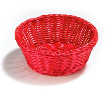 """TableCraft HM1175A Round Handwoven Basket, Assorted Colors 8-1/4"""" Dia. x 3-1/4"""""""