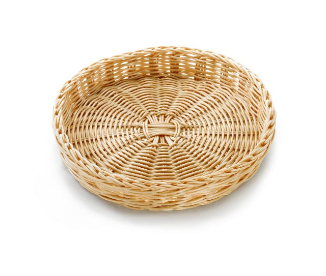 Ridal Collection Natural Hand-Woven Round Basket - 12