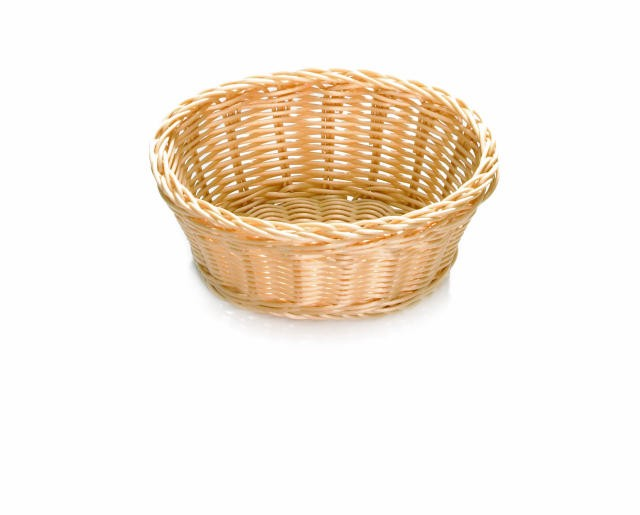 "TableCraft M1171W Natural Handwoven Ridal Collection Oval Basket 7-1/2"" x 5-1/2"" x 3-1/4"""