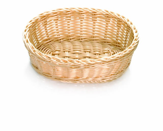 Ridal Hand-Woven Natural Oval Basket - 10