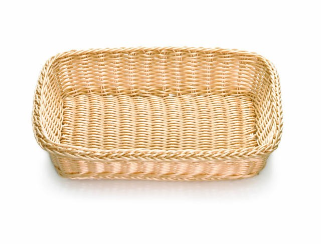 Ridal Hand-Woven Natural Rectangular Basket- 16.25