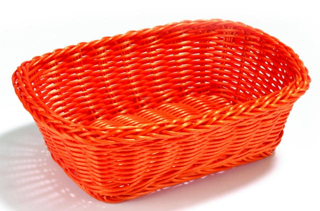 Ridal Orange Hand-Woven Rectangular Basket - 11.5