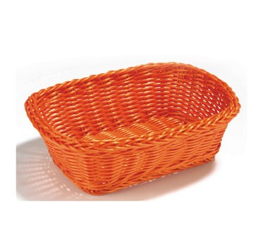 "TableCraft HM1185R Red Handwoven Rectangular Basket 11-1/2"" x 8-1/2"" x 3-1/2"""