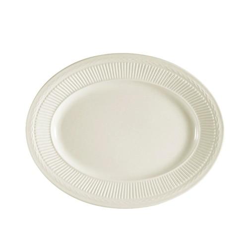 """CAC China RID-14 Ridgemont Oval Platter, 12"""" x 9-3/4"""""""