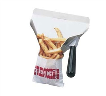 Right-Handed Aluminum Fry Portion Control/Bagging Scoop