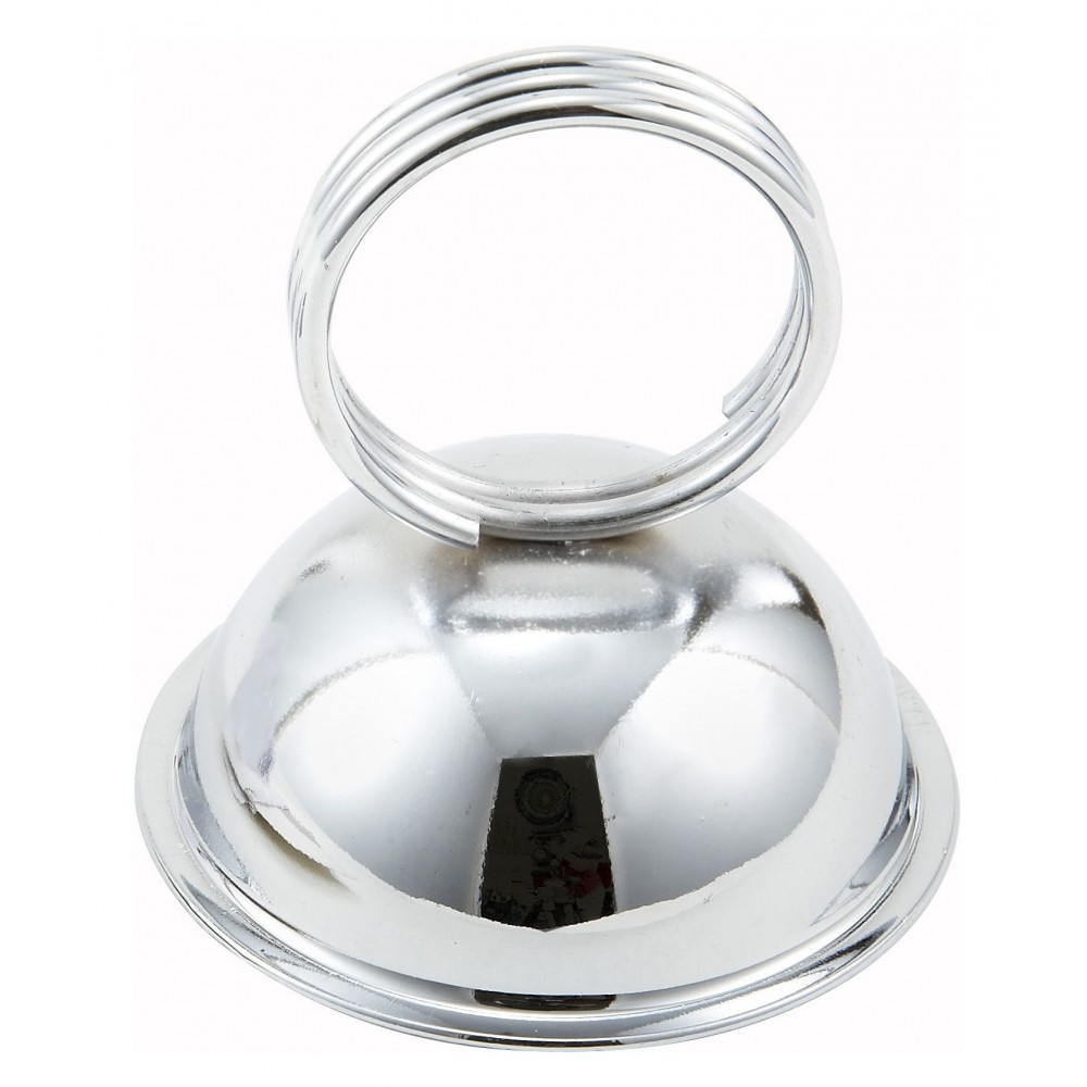 "Winco MH-2 Stainless Steel Ring-Type Menu/Card Holder 2-1/2"" x 2-1/2"""