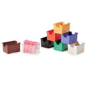 "G.E.T. Enterprises SP-SC-66-RO Rio Orange SAN 3-1/2"" x 2-1/2"" Plastic Sugar Caddy"