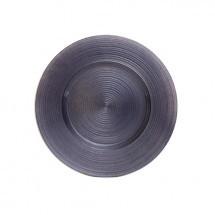 """Koyal 403392 Ripple Glass Charcoal Gray 13"""" Charger Plate"""
