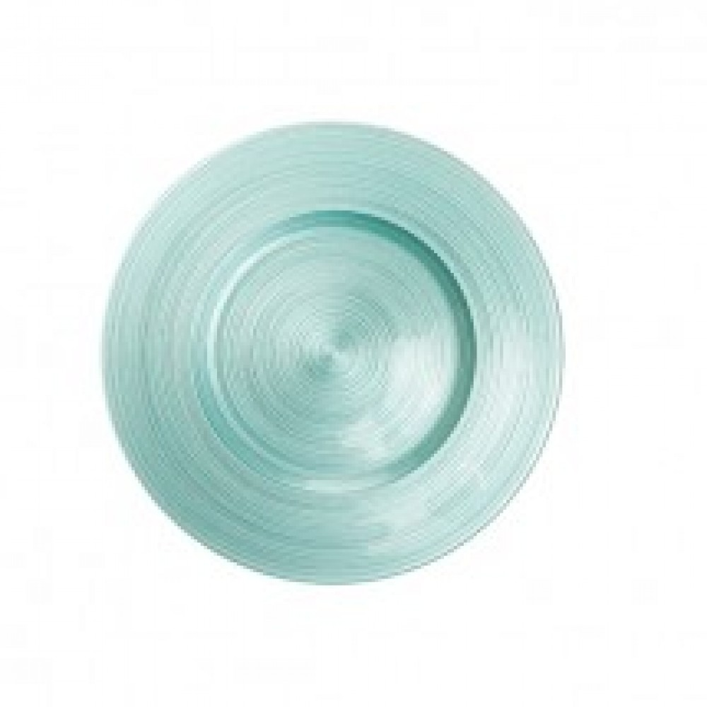 Ripple Glass Charger Plates - Diamond Blu