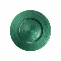"Koyal 403424 Ripple Glass Emerald 13"" Charger Plate"