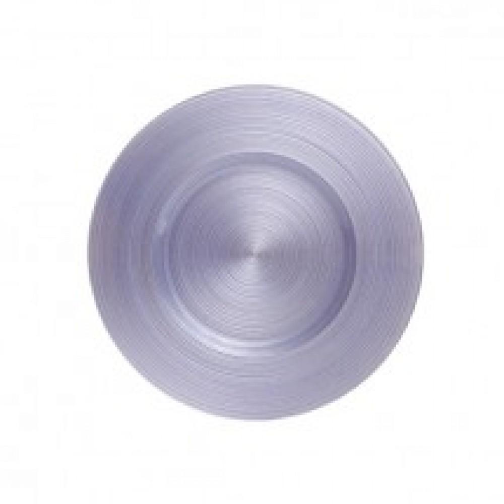 "Koyal 403387 Ripple Glass Lavender 13"" Charger Plate"
