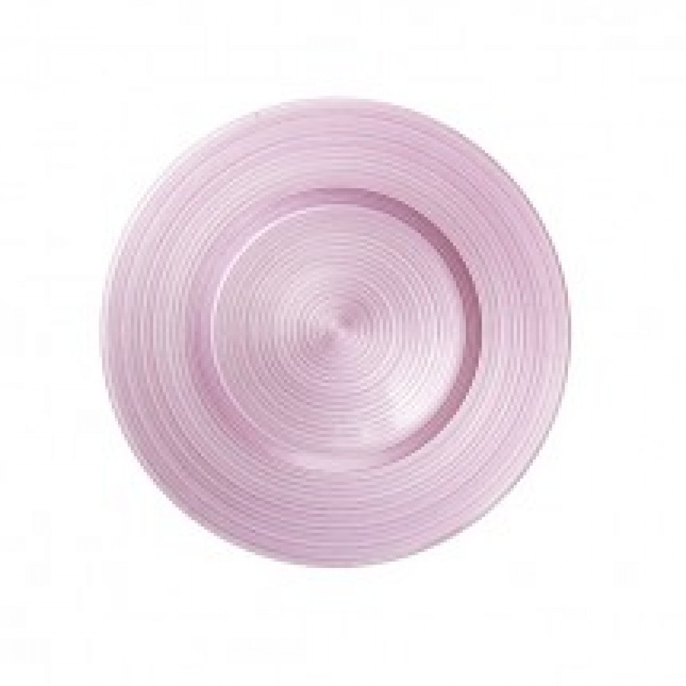 "Koyal 403378 Ripple Glass Pink 13"" Charger Plate"