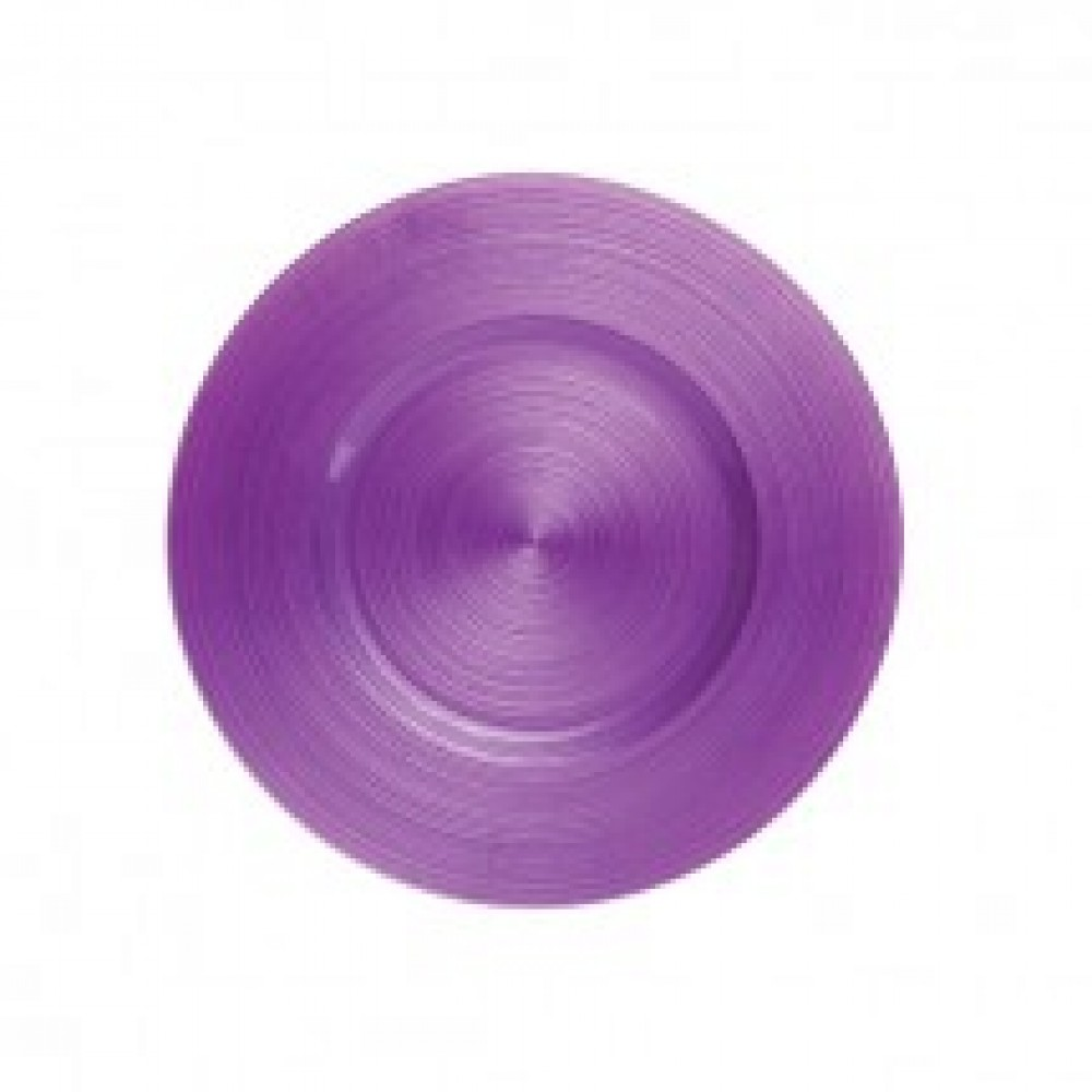 "Koyal 403388 Ripple Glass Plum 13"" Charger Plate"