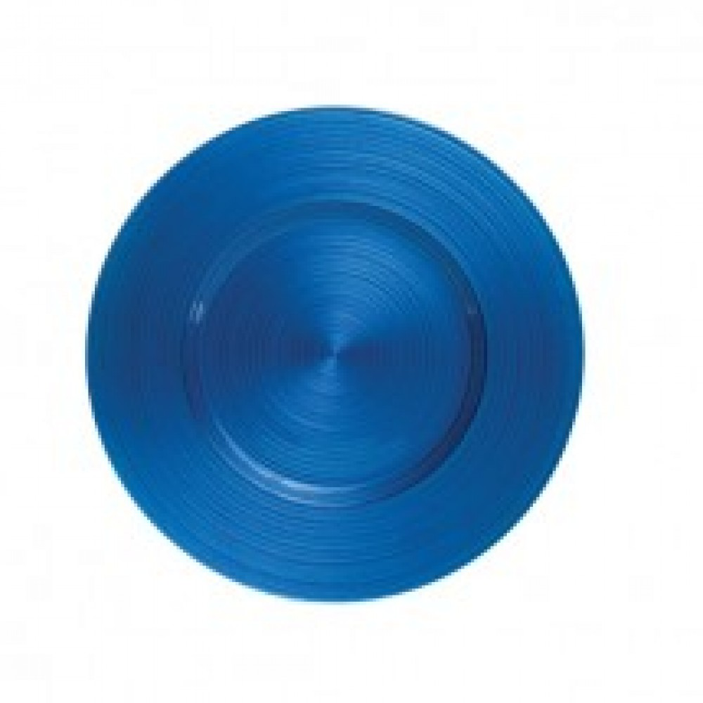 Ripple Glass Charger Plates - Royal Blue