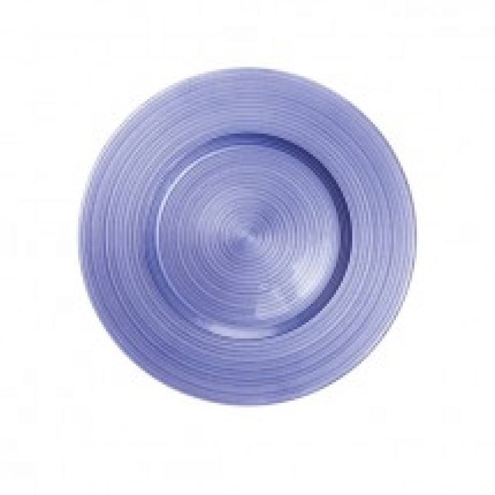Ripple Glass Charger Plates - Royal Purple
