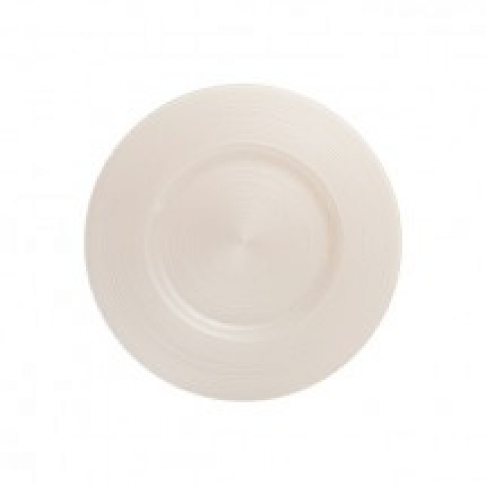 Ripple Glass Charger Plates - White