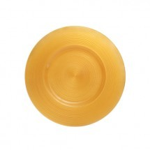 "Koyal 403380 Ripple Glass Yellow 13"" Charger Plate"
