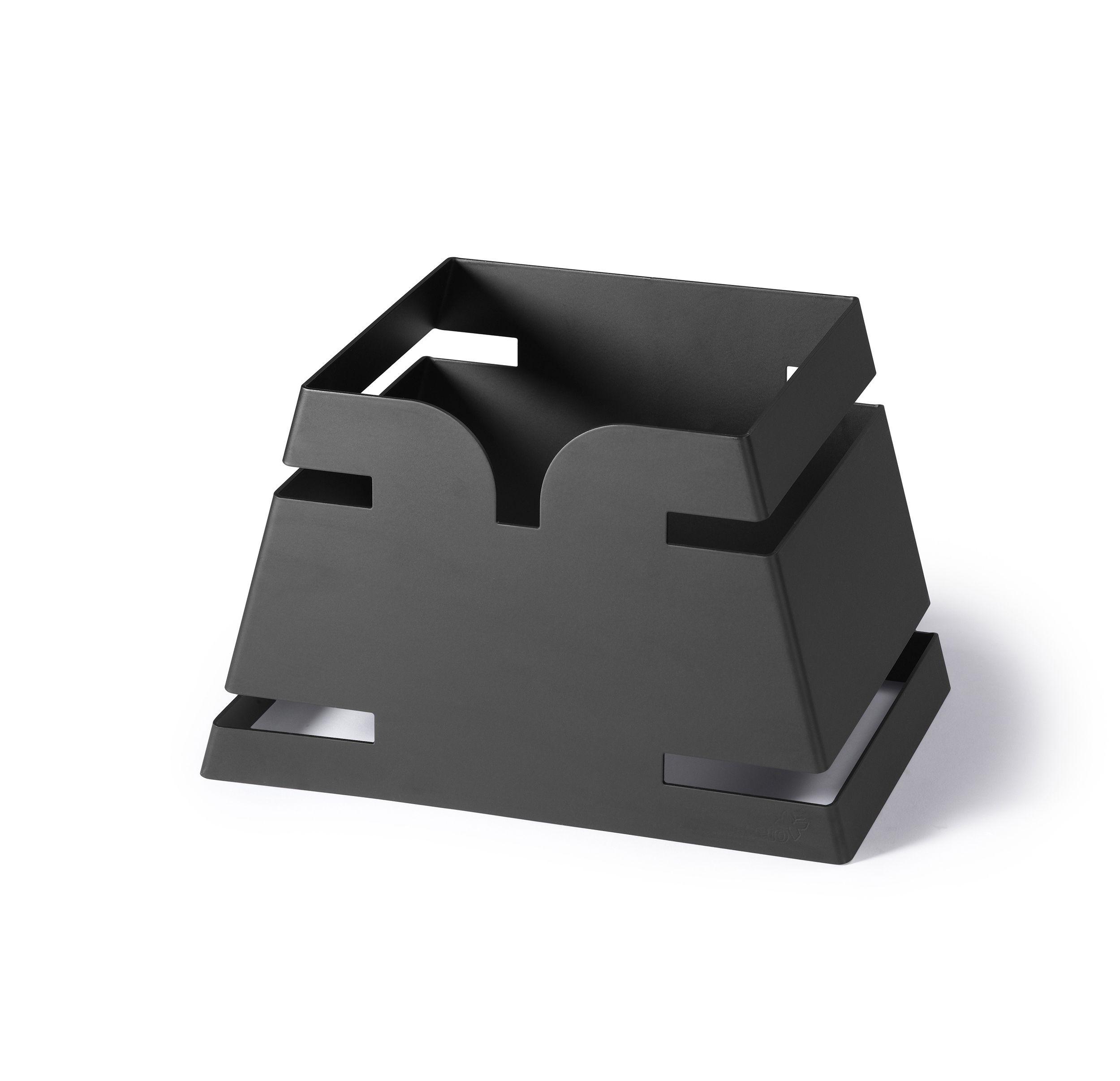 "Rosseto LD136 Large Pyramid Black Matte Skycap Riser 11.65"" x 8.3"" x 7.5""H"