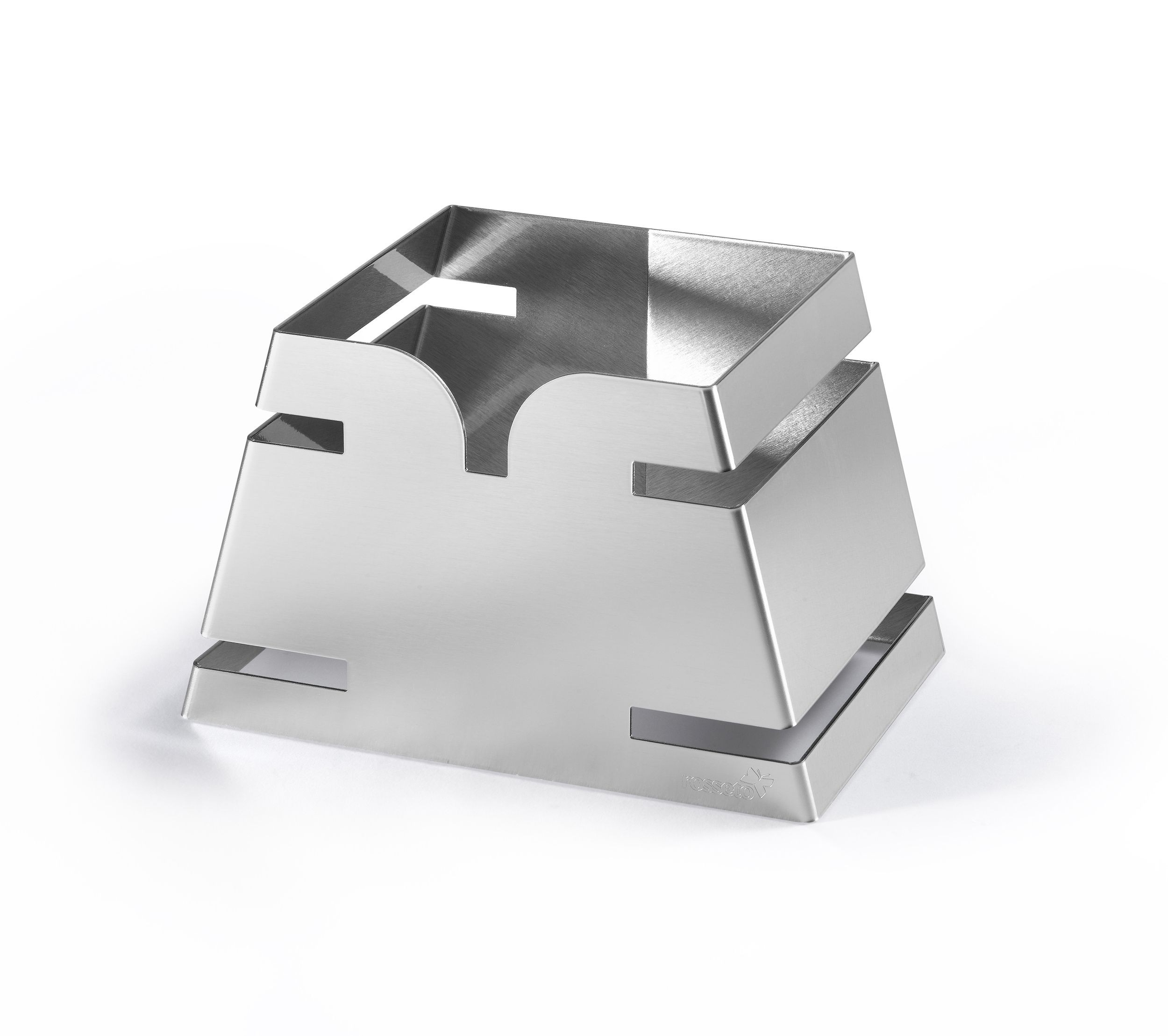 "Rosseto LD137 Small Pyramid Stainless Steel Skycap Riser 10.35"" x 7"" x 6.5""H"