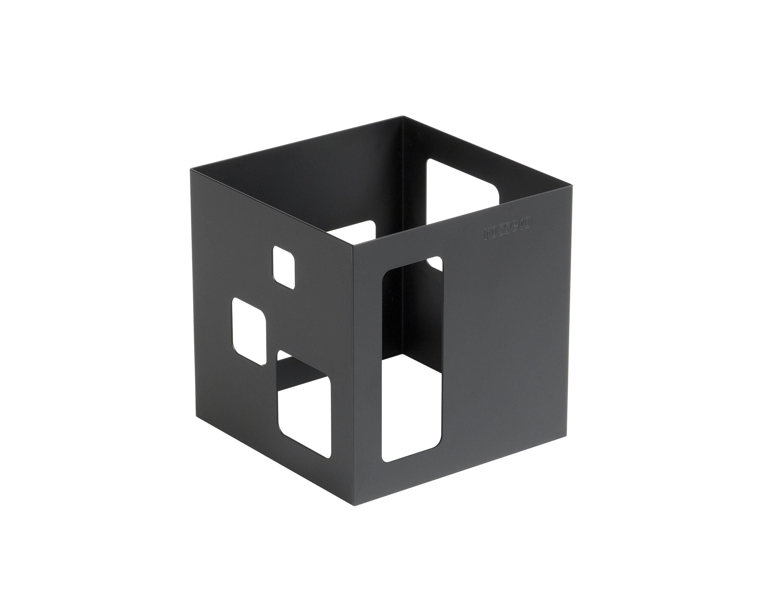 """Rosseto SM115 Square Black Matte Steel Square Riser 7"""" x 7"""" x 7""""H"""