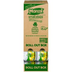 Roll Out 100% Recycled Bath Tissue, 2-Ply, 4.3 x 3.66, 504 Sheets/Roll