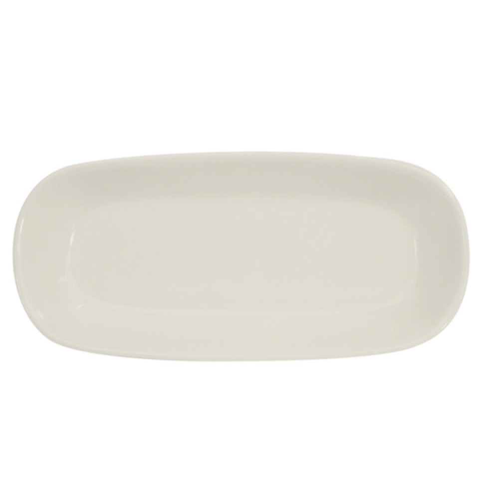 Rolled Edge American White Deep Rectangular Platter, 10