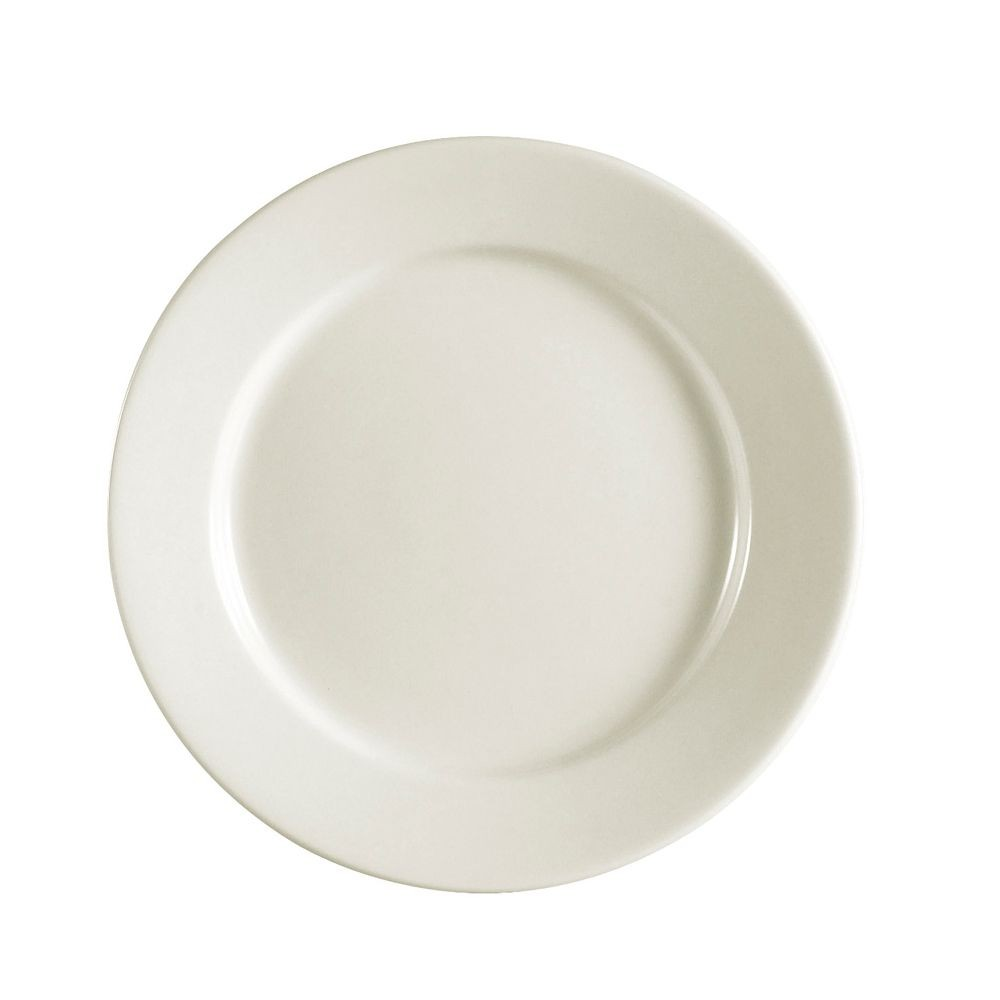 Rolled Edge American White Plate, 6 1/4