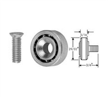 Franklin Machine Products  132-1020 Roller (29/32Od, 1/4-20Thd, Stainless Steel )