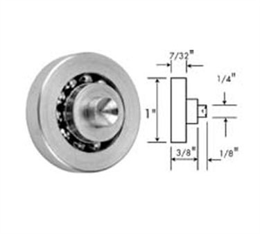 Franklin Machine Products  132-1028 Roller (29/32Od, 1/4Stud, Stainless Steel )