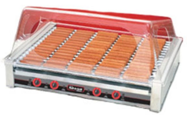Nemco 8075SX 75-Hot Dog Roller Grill with GripsIt Non-Stick Coating 120V