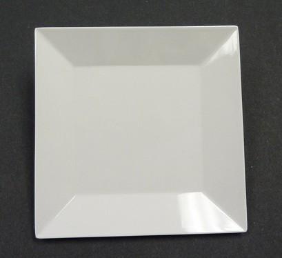 "Yanco RM-106 Rome 6"" Square White Melamine Plate"
