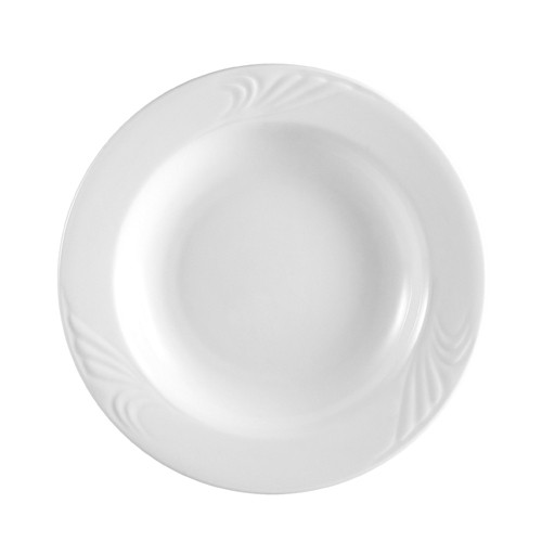 CAC China RSV-110 Roosevelt Embossed Pasta Bowl 20 oz.