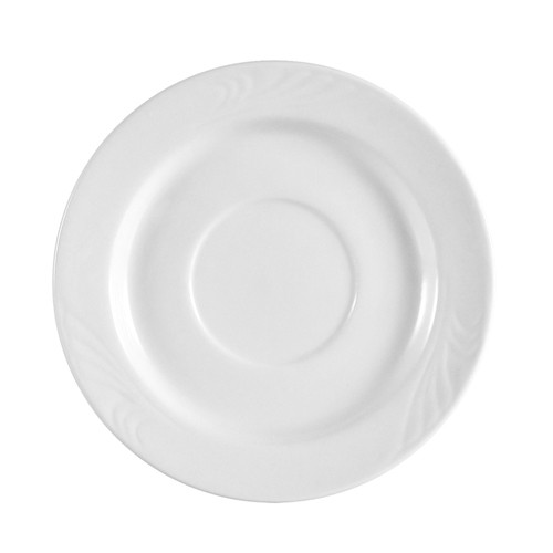 """CAC China RSV-55 Roosevelt Embossed A.D. Saucer, 4 7/8"""""""
