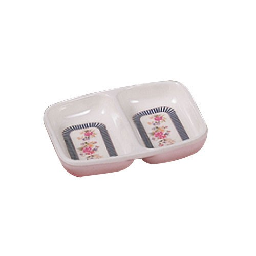 Rose 2-Compartment Melamine Sauce Dish - 2-3/4