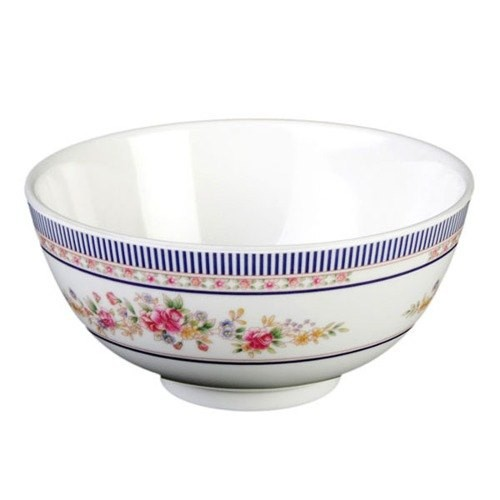 Rose Melamine 12 Oz. Rice Bowl - 4-7/8