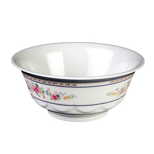 Thunder Group 5265AR Rose Melamine Scallop Edge Bowl 25 oz.