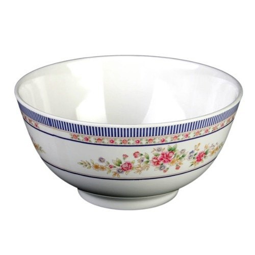 Thunder Group 5208AR Rose Melamine Rice Bowl 56 oz., 8""