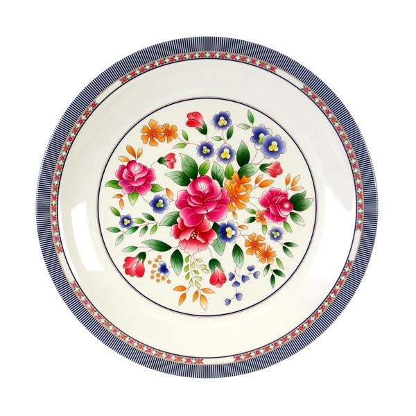 Thunder Group 1015AR Rose Melamine Round Plate 14-3/8""