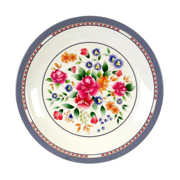 Rose Melamine Round Plate - 14-3/8