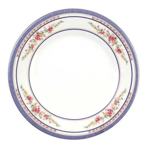 Thunder Group 1016AR Rose Melamine Round Plate 15-1/2""