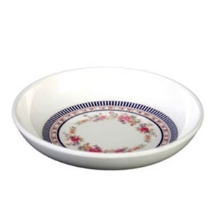Thunder Group 1101AR Rose Melamine Sauce Dish 1 oz.
