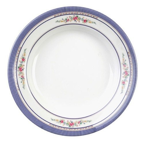 Thunder Group 1110AR Rose Melamine Soup Plate 12 oz.