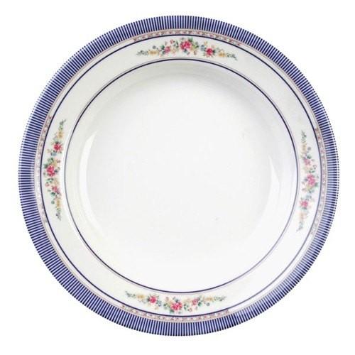 Rose Melamine Soup Plate - 7-7/8