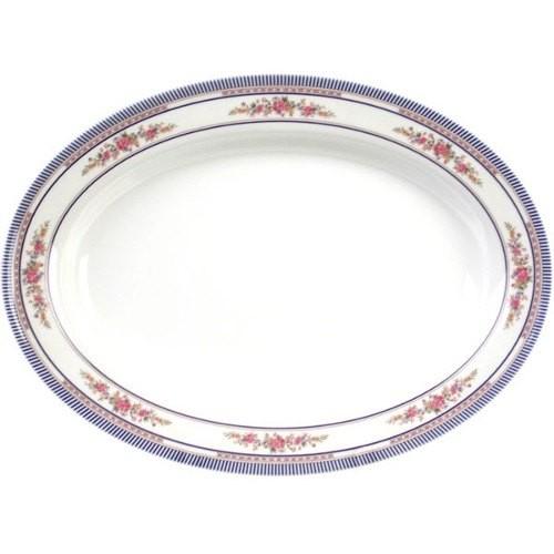 Rose Oval Melamine Deep Platter - 9