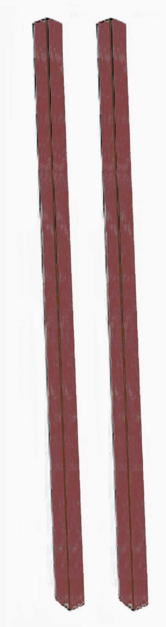 Aarco Products DPP-7 Rosewood Plastic Lumber Post Set