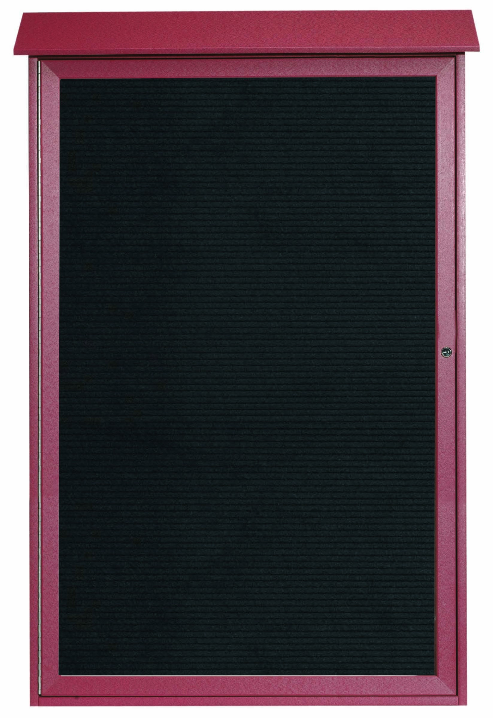 """Aarco Products PLD5438L-7 Rosewood Single Hinged Door Plastic Lumber Message Center with Letter Board, 54""""H x 38""""W"""