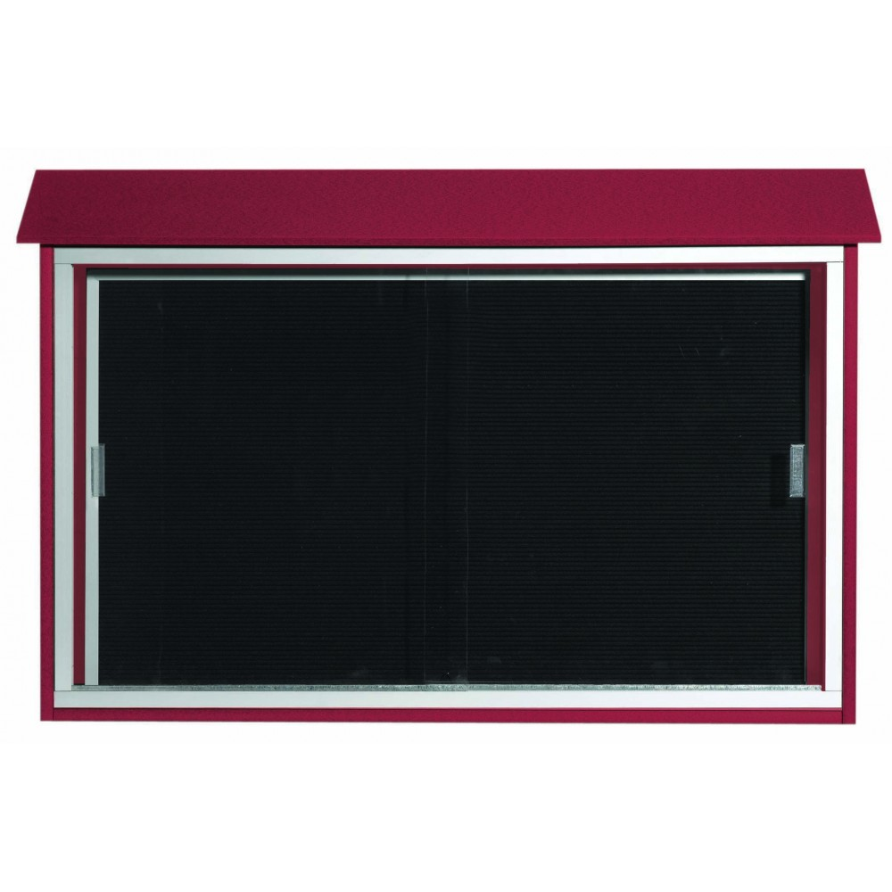 Rosewood Sliding Door Plastic Lumber Message Center with Letter Board- 30