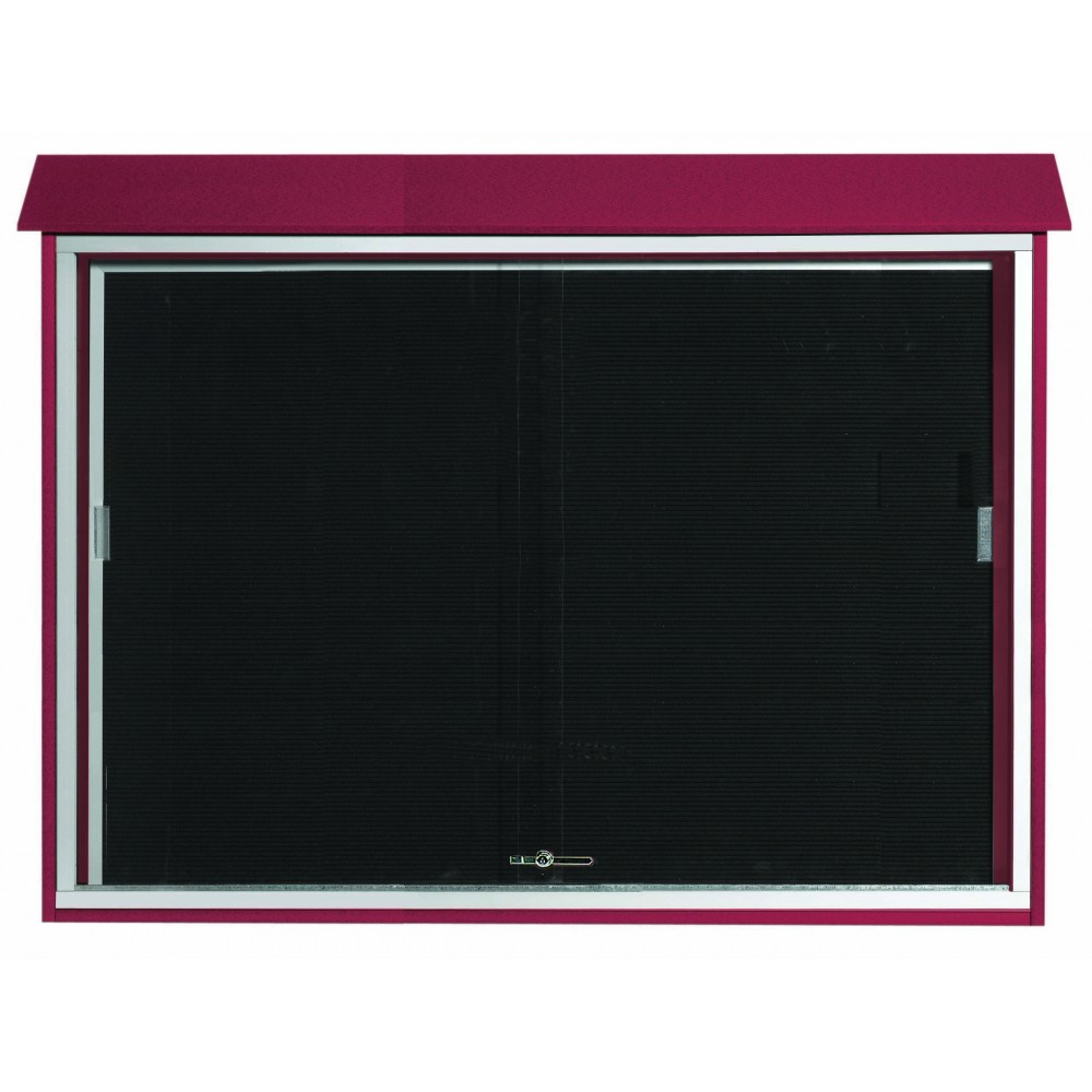 Rosewood Sliding Door Plastic Lumber Message Center with Letter Board-40